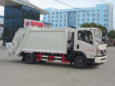 国五东风7方压缩式垃圾车