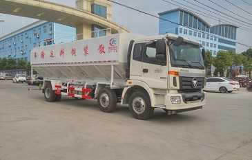 国五欧曼小三轴散装饲料运输车
