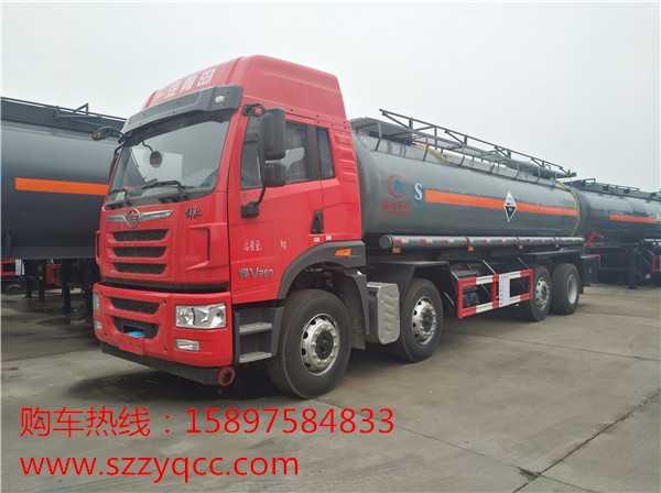 程力威牌CLW5314GFWC5型腐蚀性物品罐式运输车