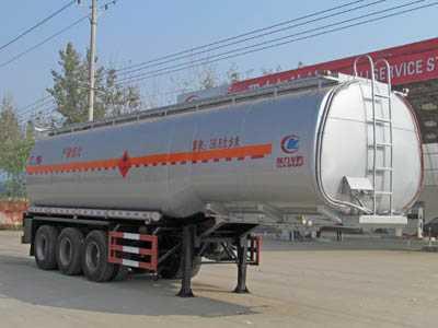程力威牌CLW9405GRYA型易燃液体罐式运输半挂车
