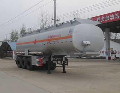程力威牌CLW9406GRYA型易燃液体罐式运输半挂车