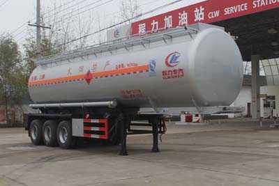 程力威牌CLW9409GRY型易燃液体罐式运输半挂车