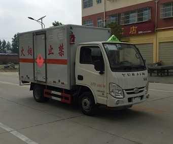 程力威牌CLW5031XRQNJ5型易燃气体厢式运输车